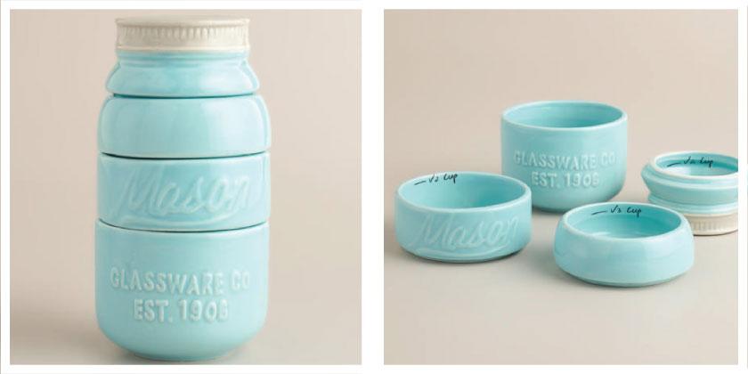 ceramic-measuring-cups-Aqua-Mason-Jar
