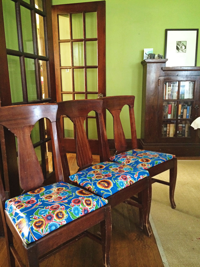 Chairs-covered-with-oilcloth