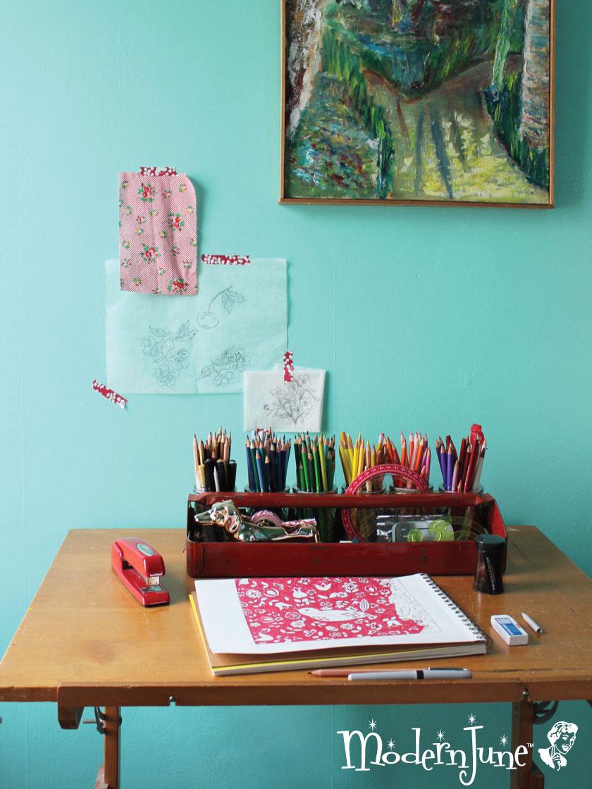 Modern-June's-Vintage-Drawing-Table