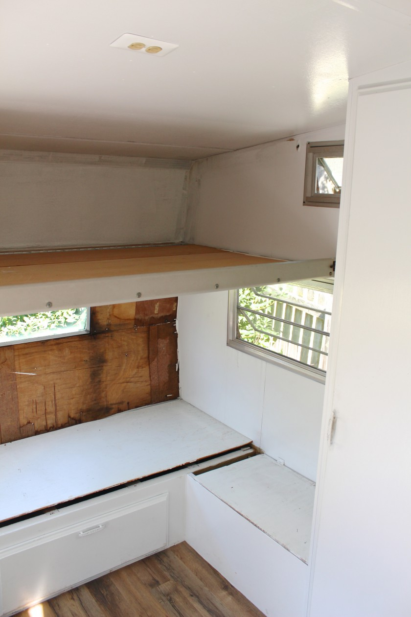 Closet 2, benches and bunk