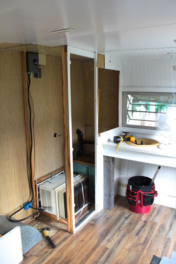 demo 10 closet 1 gone