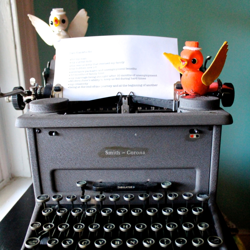 thanksgiving typewriter