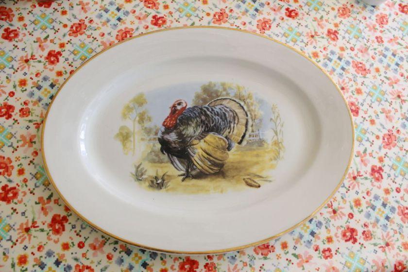 turkey platter vintage