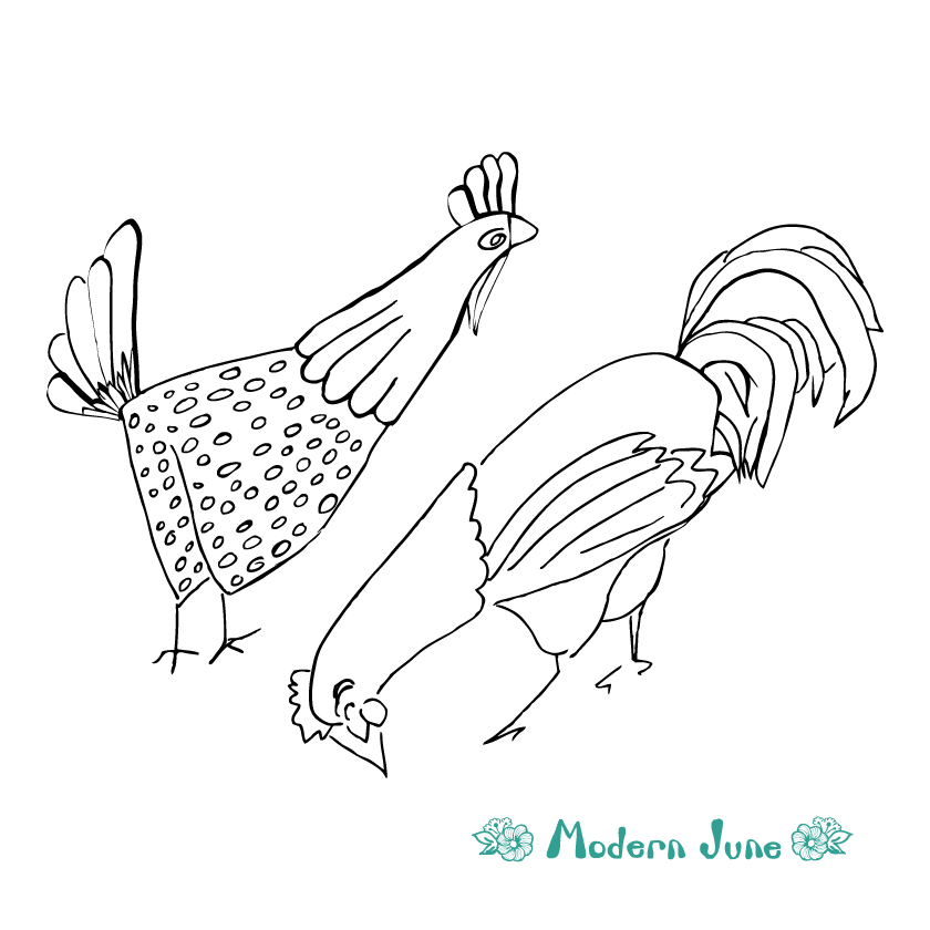 Modern-June-Art-2-Sketchy-Hens