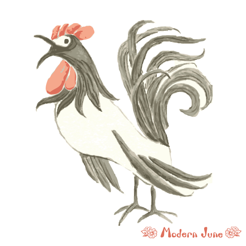 Modern-June-Art-Watercolor-Rooster