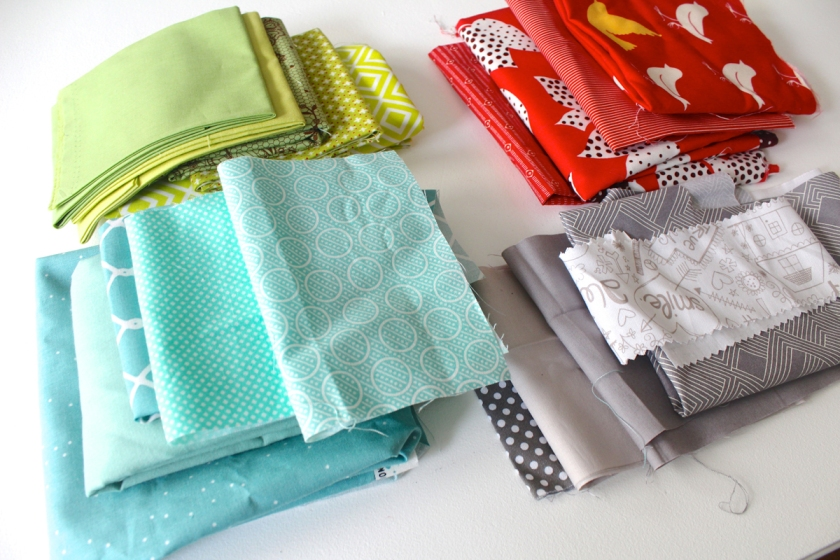 stash-of-fabrics-for-fractal-quilt